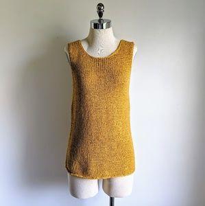 vintage 90's chunky knit sleeveless sweater